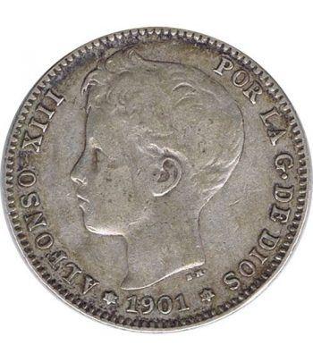 1 Peseta Plata 1901 *01 Alfonso XIII SM V.  - 2