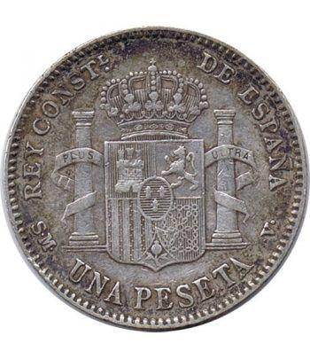 1 Peseta Plata 1901 *01 Alfonso XIII SM V.  - 4