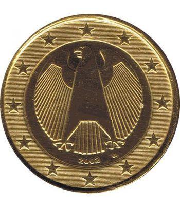 Moneda de 1 euro de Alemania 2002 G. SC. Chapada oro  - 2