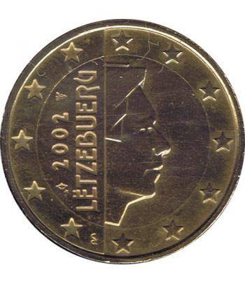 Moneda de 1 euro de Luxemburgo 2002. SC. Chapada oro  - 2