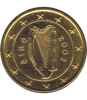 Moneda de 1 euro de Irlanda 2002. SC. Chapada oro  - 2