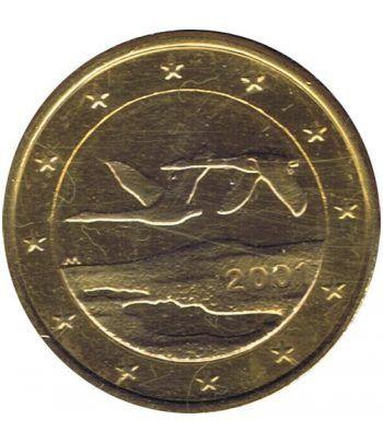 Moneda de 1 euro de Finlandia 2001. SC. Chapada oro  - 2