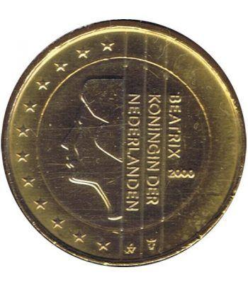 Moneda de 1 euro de Holanda 2000. SC. Chapada oro  - 2