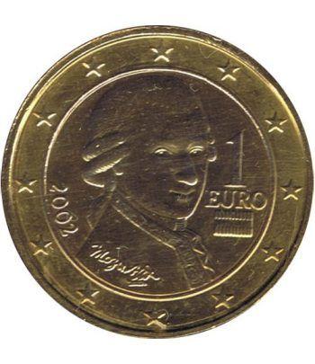 Moneda de 1 euro de Austria 2002. SC. Chapada oro  - 2