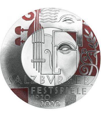 moneda Austria 20 Euros 2020 Centenario Festival Salzburgo  - 1