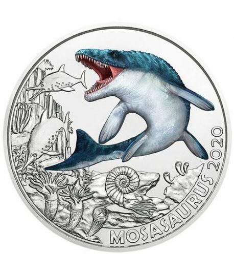 moneda Austria 3 Euros 2020 Monsasauro Dino-Taler.  - 1