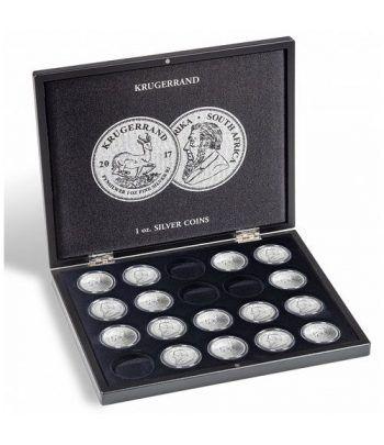 LEUCHTTURM Estuche de madera para 20 monedas Krugerrand. Estuche Monedas - 4