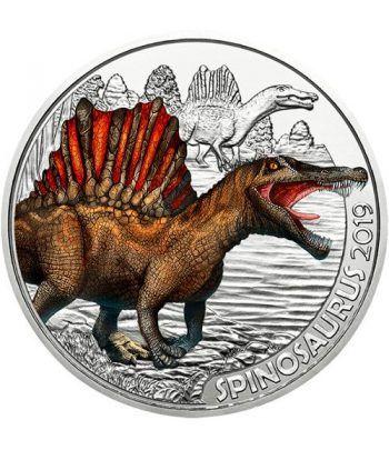 moneda Austria 3 Euros 2019 Spinosaurus Dino-Taler.  - 1