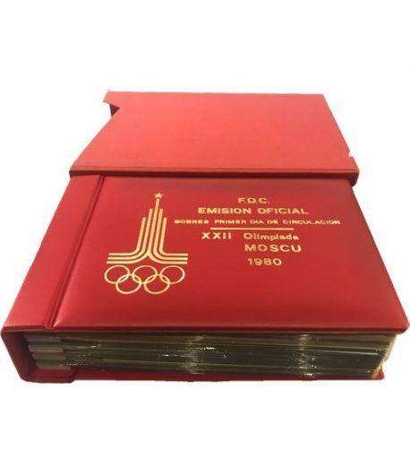 Colección Sobres Primer Dia XXII Olimpiada Moscu 1980. 49 sobres  - 1