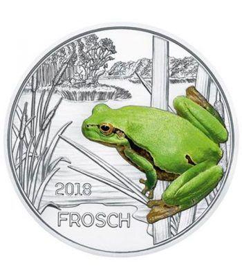 moneda Austria 3 Euros 2018 Rana color Tier-Taler.  - 4