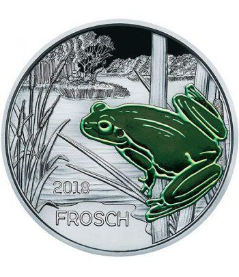 moneda Austria 3 Euros 2018 Rana color Tier-Taler.  - 6
