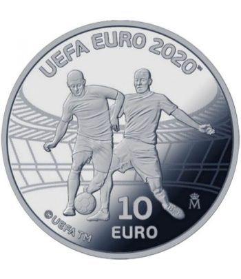 Moneda 2020 Futbol UEFA EURO 2020. 10 euros. Plata  - 1