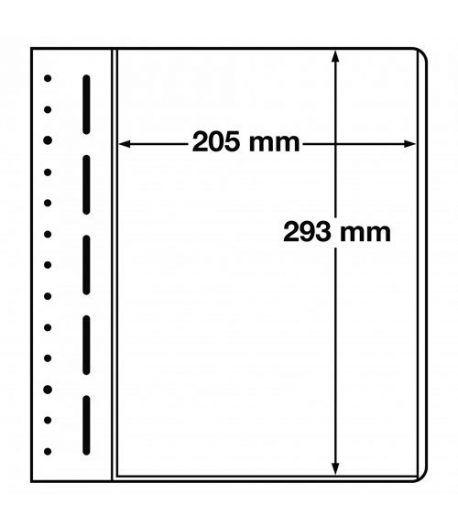 LEUCHTTURM hojas en blanco LB 1 MAX. 1 división. Hojas Clasificadoras - 1