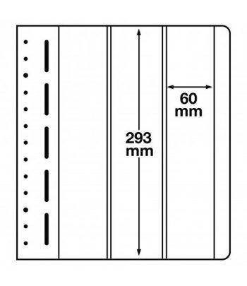 LEUCHTTURM hojas en blanco LB 3 VERT. 3 divisiones vertical. 10 Hojas Clasificadoras - 1