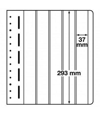 LEUCHTTURM hojas en blanco LB 5 VERT. 5 divisiones verticales Hojas Clasificadoras - 1