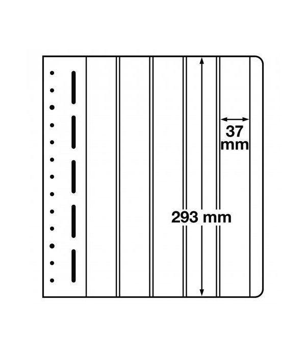 LEUCHTTURM hojas en blanco LB 5 VERT. 5 divisiones vertical. 10 Hojas Clasificadoras - 1