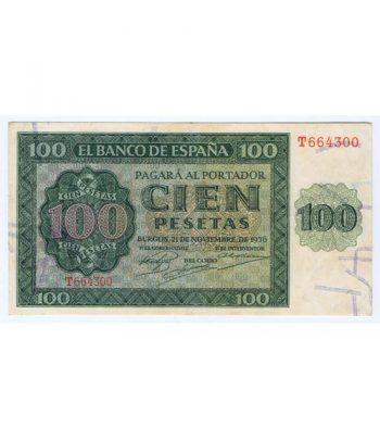 (1936/11/21) Burgos. 100 Pesetas. MBC+.  - 1