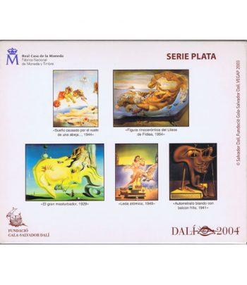 Monedas 2004 Salvador Dalí - FNMT Serie Completa Plata  - 4