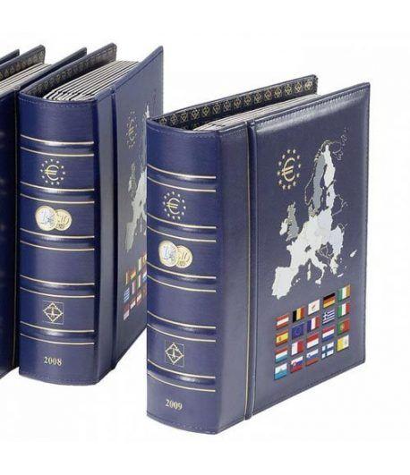 LEUCHTTURM 361085 Album Vista Euro 2020 con cajetín Album Monedas Euro - 2