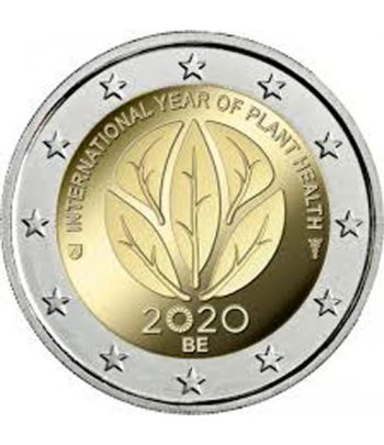 moneda conmemorativa 2 euros Belgica 2020 Sanidad Vegetal.  - 1