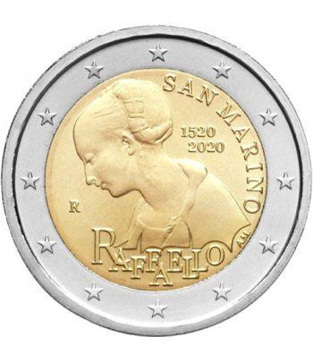 moneda conmemorativa 2 euros San Marino 2020 Raffaello.  - 1