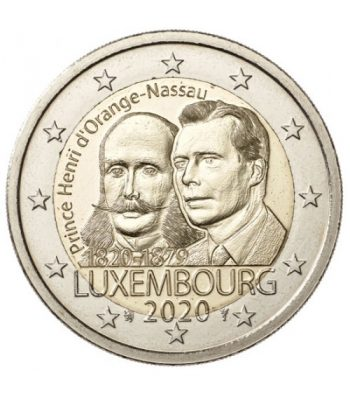 moneda conmemorativa 2 euros Luxemburgo 2020 Príncipe Henry  - 1