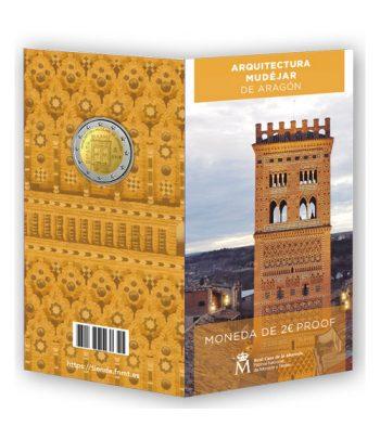Cartera oficial euroset 2 Euros España 2020 Mudejar. Proof  - 1