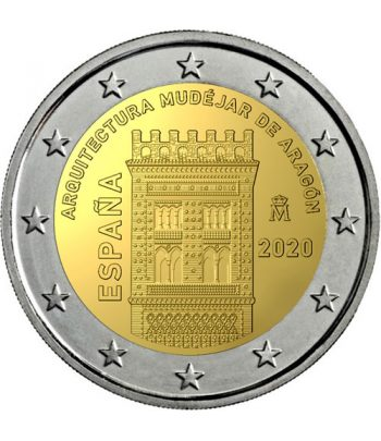 moneda 2 euros España 2020 dedicada al Arte Mudéjar de Aragón  - 1
