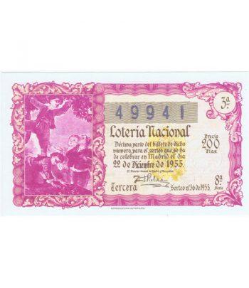Décimo Año 1955 Loteria Nacional Sorteo número 36 de Navidad  - 1