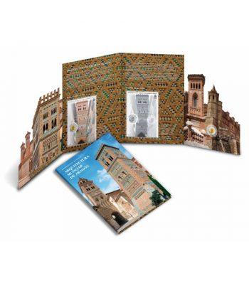 Carpeta 2020 moneda de 2 euros y sellos Arquitectura Mudéjar de Aragón  - 1