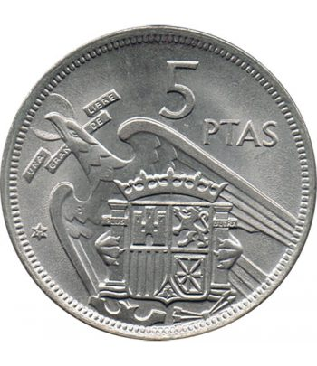 Moneda de España 5 Pesetas 1957 *19-71 Madrid SC  - 1