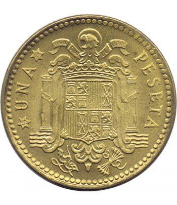 Moneda de España 1 Peseta 1953 *19-56 Madrid SC  - 1