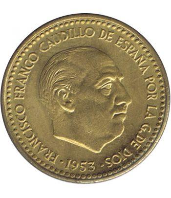 Moneda de España 1 Peseta 1953 *19-62 Madrid SC  - 2