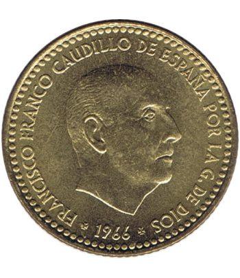 Moneda de España 1 Peseta 1966 *19-72 Madrid SC  - 2