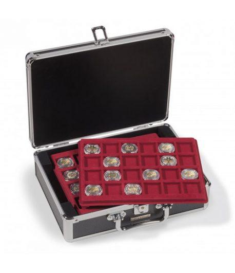 LEUCHTTURM Maletín para 112 monedas CARGO S6 con 6 bandejas NEGRO Maletines monedas - 1