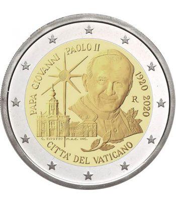 moneda de Vaticano 2 euros 2020 conmemorativa de Juan Pablo II  - 1