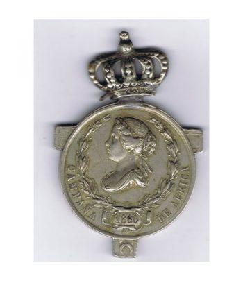 Medalla de Isabel II dedicada a la Campaña de África del año 1860.  - 1