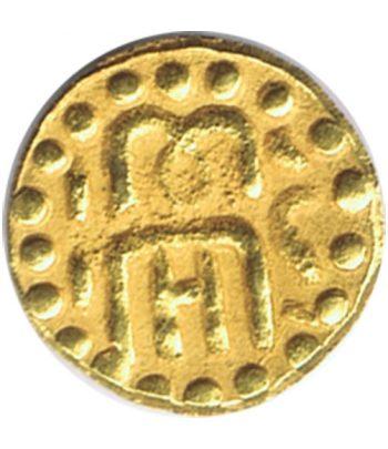 Moneda de oro de la India tamaño pequeño.  - 1