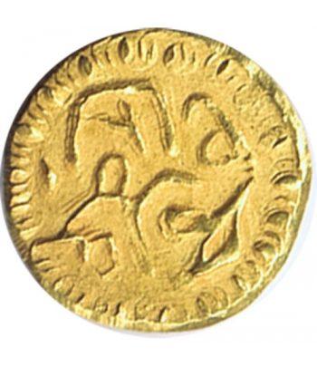 Moneda de oro de la India tamaño pequeño.  - 2