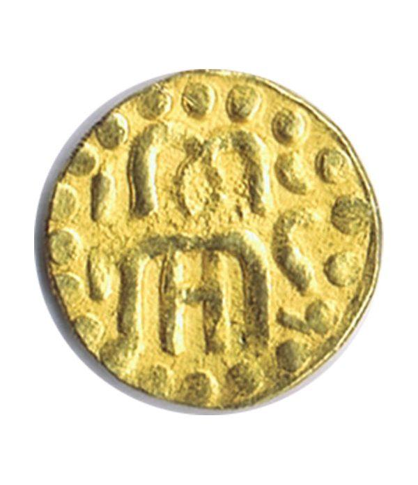 India moneda de oro de tamaño pequeño.  - 1