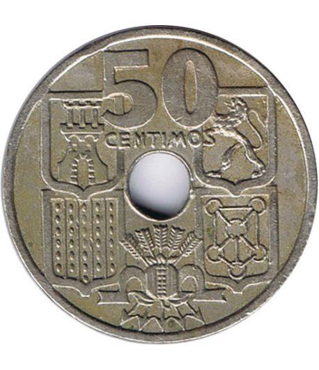 Moneda de España 50 céntimos 1949 *19-51 Flechas invertidas EBC  - 1