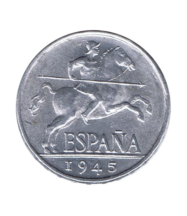 Moneda de España 5 centimos 1945 Madrid SC  - 1