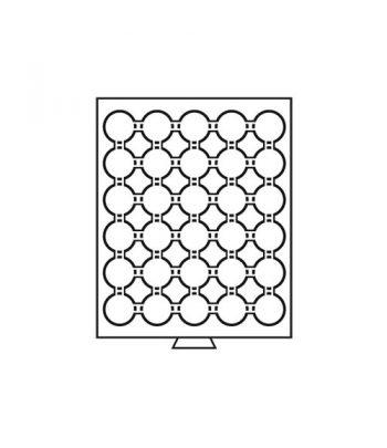 LEUCHTTURM Bandeja para 30 monedas cápsula 33 mm Intercept 27 mm Bandeja Monedas - 3