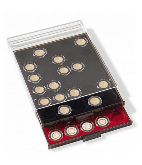 LEUCHTTURM Bandeja para 20 monedas cápsula 46-47 mm Intercept 41 mm Bandeja Monedas - 1