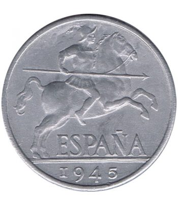 Moneda de España 10 centimos 1945 Madrid SC  - 1