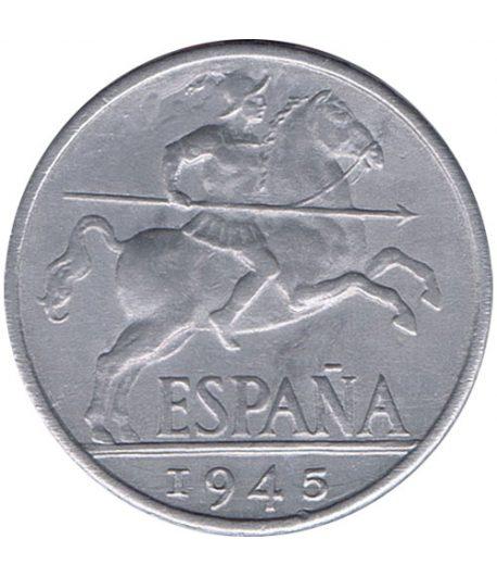 Moneda de España 10 centimos 1945 Madrid SC  - 1