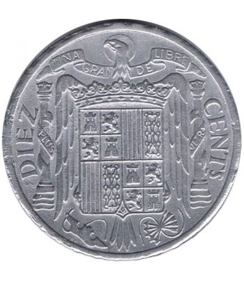 Moneda de España 10 centimos 1945 Madrid SC  - 2