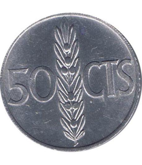 Moneda de España 50 centimos 1966 *19-71 Madrid SC  - 1