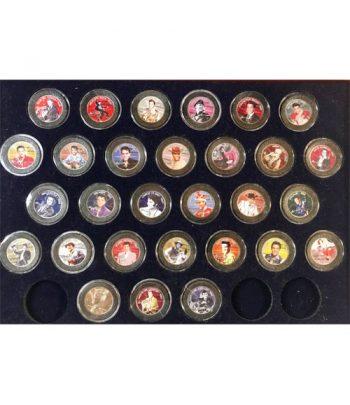 Monedas de plata de Estados Unidos 1/2 $ Elvis Presley 29 monedas.  - 2