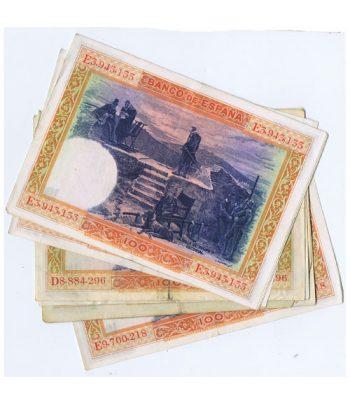 Lote de 10 Billetes de la Républica Española 100 Pesetas de 1925  - 2